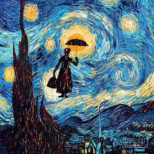 starry night drawing mary poppins starry night oil painting by three second