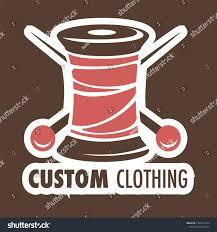 Custom Design Threads Threads Coil Needles Icon Custom Clothing Stock Vector
