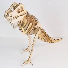 personalised wooden dinosaur skeleton model kit