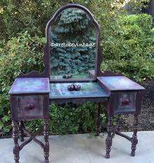 Repurposed this Vanity - Purple Vintage Vanity with a Bohemian Feel using  Heirloom Traditions Purple Passion
