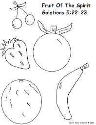 Small Picture Fruit of The Spirit Coloring Pages