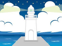 無料イラスト] 明かりを灯す灯台 - パブリックドメインQ:著作権フリー画像素材集