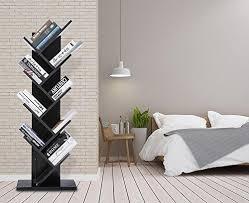 cds furniture. SUPERJARE 9-Shelf Tree Bookshelf   Compact Book Rack Bookcase Display  Storage Furniture For Cds Furniture