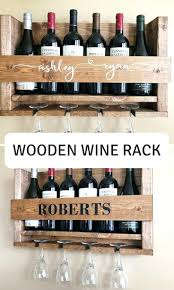 wine bottle and glass rack holder stake set pattern wooden plans