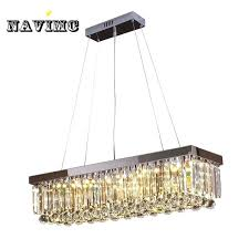 rectangular crystal chandelier modern luxury re rectangular crystal chandelier for dining room lamp bedroom foyer lighting fixture led bulbs rectangular