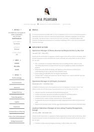 Operations Manager Resume Example Writing Guide