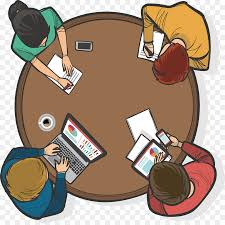round table teamwork vecteur clip art four person round table conference