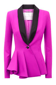 Fuchsia Light Requirements Asymmetric Flare Jacket Ready To Wear Ralph Russo