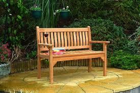westminster flat arm teak bench 2 seater 1 2m