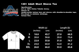23 True To Life Alstyle Apparel Sizing Chart
