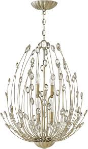 fredrick ramond fr31024slf tulah silver leaf mini chandelier lighting loading zoom