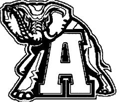 Alabama football coloring pages logo - ColoringStar