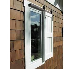 4 6 6ft mini single cupboard wood sliding barn door window shutter hardware track roller