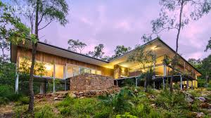 modern new home in bush setting western australia features teak local stone and concrete floors you
