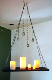 hanging candle chandelier wood chain hanging candle holder