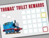 Thomas The Tank Potty Training Chart Potty Training