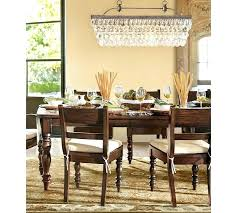 fabulous round crystal chandelier pottery barn clarissa drop glass rectangular 30 length chic crysta