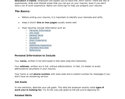 Resume With References Good Skills To Have For A Resume. top summer job skills on your good ...