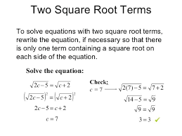 12 5 practice worksheet simplifying square roots check y 7 i 1 4 two root terms