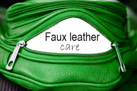 on faux leather care