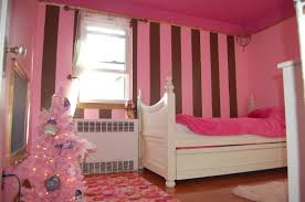 Pink And Black Girls Bedroom Pink And Black Bedrooms Purple Bedroom Wall Black Wooden Bed