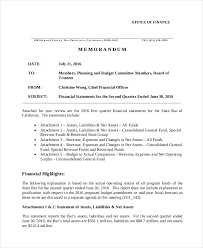 Memo To Board Of Directors Amazing 32 Financial Memo Examples Samples PDF Word Pages