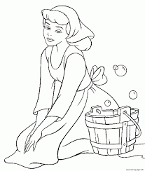 Princess Free Disney Cinderella For Kids6244 Coloring Pages