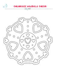Coloriage Mandala Coeur Facile Imprimer Printable Coloriage En