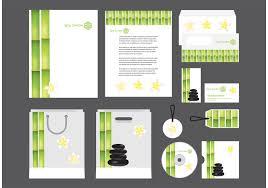 company profile design s spa profile template vector