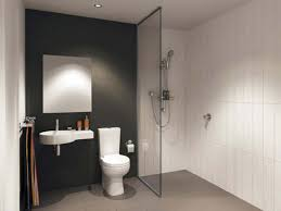 Apartment Therapy Bathrooms Stunning Black Flourish Pattern Wall Tile Apartment Therapy Small