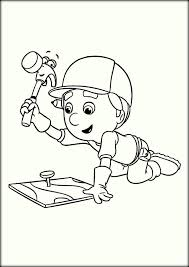 Handy Manny Using Pat the Hammer Coloring Page free printable hammer coloring pages color zini on hammer coloring page