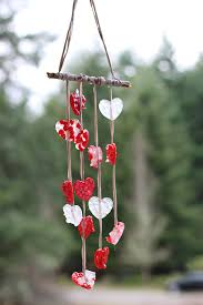 ... wind. heart windchimes for valentines day