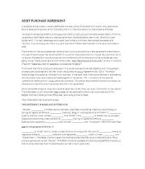 Sale Agreement Forms Asset Sale Agreement Template Templates Design Purchase