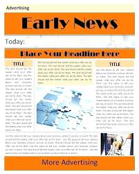 Microsoft Newspaper Article Template Newspaper Article Template For Word Hostingpremium Co