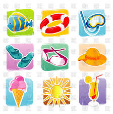 Summer Icons Set Of Summer Icons Stock Vector Image