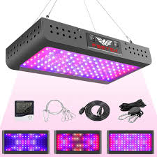 How Close To Keep Led Grow Lights 1200w Led Grow Light Double Switch With Daisy Chain Temperature And Humidity Monitor Adjustable Rope Fsgtek Full Spectrum Grow Lamp For Indoor