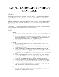 Sample Maintenance Contract Template Landscape Resume Samples Maintenance Contract Example Agreement 12
