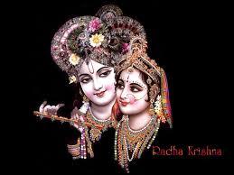 Lord Radha Krishna in black theme ...