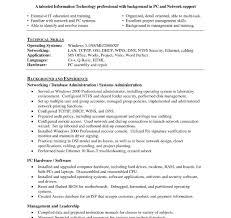 Resume Format For Desktop Support Engineer Resume Templates It Technical Support Example Desktop Engineer