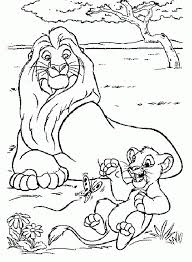 Mufasa E Simba 4 Disegni Da Colorare Gratis Il Re Leone Disegni Da