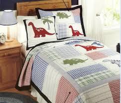 European Style cotton quilt kids dinosaur bed cover Autumn ... & Twin Boy Kids Dinosaur Cotton Quilted Bedspread Coverlet Quilt Set L Style Adamdwight.com