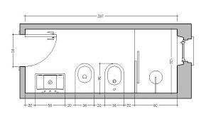 Disegno Bagno In Camera : Bagno stretto e lungo come ristrutturare disporre sanitari
