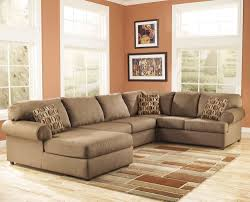 image of simple u shaped sectional sofa with chaise