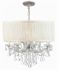 12 lights crystal chandelier w antique white shade