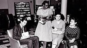 from the howard zinn archive fighting respectability politics at howard zinn surrounded by his spelman college students signs his first book in 1960 the spelman college archives