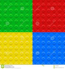 Lego Patterns Amazing Colorful Lego Blocks Plates Seamless Patterns Set Vector Stock