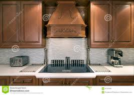 Upscale Kitchen Appliances Kitchen Cabinets And Cooktop Stock Photo Image 41547901