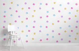 kids watercolour polka dot wallpaper