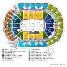 Blue Jackets Arena Seating Chart Columbus Blue Jackets Vs Carolina Hurricanes Tickets 1 16 20