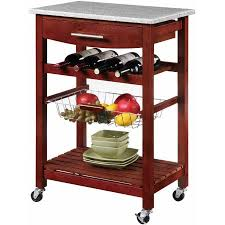 Linon Kitchen Island Cart with Granite Top Walmartcom